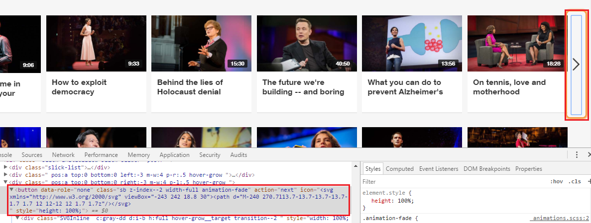 Le code HTML du bouton n'est pas très parlant.