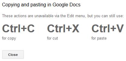 Google Docs affiche un message d'erreur.