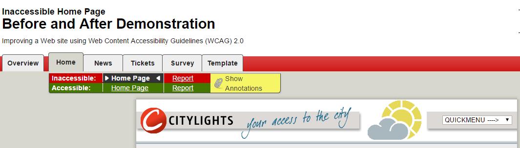 L'exemple à éviter est un site web d'apparence ordinaire.